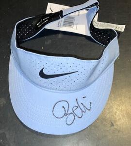 Belinda Bencic Signed Blue Nike Women's Tennis Visor With Proof