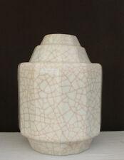 Vase craquelé  Longwy Pomone, Art Deco