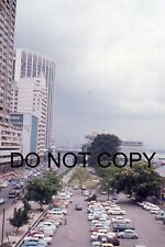 35mm COLOUR SLIDE - 1960's - SINGAPORE - DENMARK HOUSE - LOTS OF CARS IN CARPARK