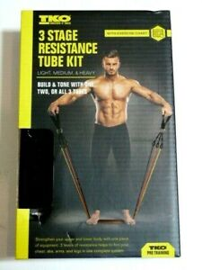 NEW* TKO 3 stage resistance bands tube kit