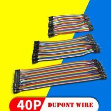 40PCS Dupont Wire Jumper Cables Lead 10cm 20cm 30cm 2.54MM M-M/M-F/F-F 1P-1Pin