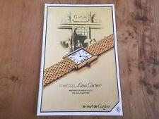 Rare 80's Booklet CARTIER Collection LOUIS CARTIER - Watches Montres - ENG & FR