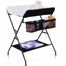 Infant Baby Changing Table Folding Diaper Station Nursery Organizer Black