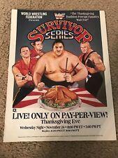 Vintage 1993 WWF SURVIVOR SERIES PPV Poster Print Ad YOKOZUNA LUDVIG BORGA RARE