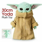 "12"" Baby Yoda The Mandalorian Force Awakens Master Stuffed Doll Plush Toys"