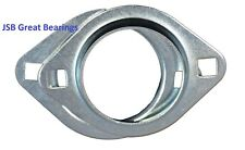 (Qty.2) PFL204 Oval 2 Bolt Pressed Steel Bearing Housing for 204 inserts