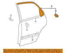 TOYOTA OEM 97-01 Camry Exterior-Rear-Window Molding Left 7507633030