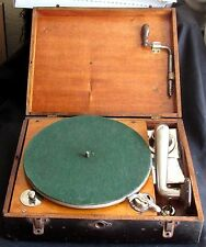Rare Wooden Cased 1930s Rexoport Portable 'Picnic' Gramophone With Thorens Motor