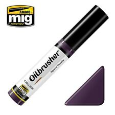 Ammo of Mig Oilbrusher Space Purple - Oil Paint with Fine Brush Applicator #3526