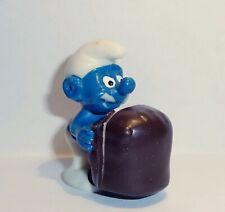 NEGERKUSS SCHLUMPF Variante mit blau bemaltem Mund OLYMPIADE 1983 ORIGINAL