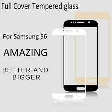 0.3mm Premium BLACK Full Tempered Glass Screen Protector for Samsung Galaxy S6