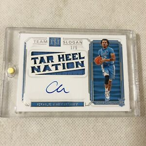 2020 National Treasures Collegiate Cole Anthony RPA Team Slogan /5 RC Auto Card