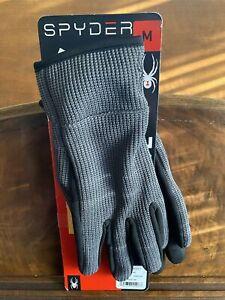 New Spyder Core Conduct Glove Men's MEDIUM GREY Lightweight Sweater Gloves