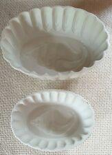 More details for 2 vintage cetem ware jelly or blancmange moulds with shell pattern