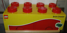 NEW 2017 Lego 8 Knob Brick Drawer - Bright Red - NIP VHTF