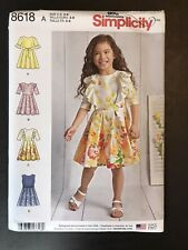 Simplicity 8618 Toddler Dress Dresses size 3 - 8 NEW UNCUT 4 Styles