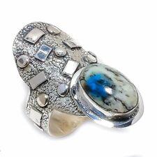 Sterling Silver Ring Size 8 K2 Jasper Gemstone Handmade Ethnic 925