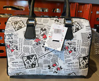 Disney Parks Authentic Mickey Minnie Mouse News Clipping Purse with Strap NEW
