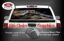 Gun Rear Window Graphic Decal Sticker Truck Car SUV