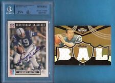 JOHNNY UNITAS AUTOGRAPH AUTO JSA & BECKETT CERTIFIED + 3 GAME USED JERSEY CARD #