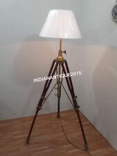 Beautiful Nautical Brown Tripod Floor Lamp Shade Home Decor