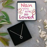 REAL Sterling Silver Heart Necklace Nan Jewellery Gift Box Birthday Present