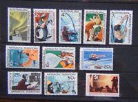 Australian Antarctic Territory 1968 set complete to $1 MNH SG8 - SG18