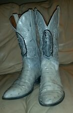 Exotic Leather OSTRICH Cowboy Boots Mens 8.5 Women 10