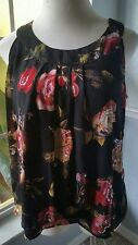 Women's Dressbarn Sleeveless Blouse  Multi-Color floral sz XL sequins