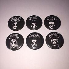 6 Friends Black Metal parody Novelty Button badges Mayhem Emperor Enslaved