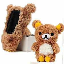 For iPhone 11 Pro XS X Cute Stylish 3D Soft Teddy Bear Doll Plush Toy Cover Case