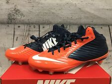 Nike Vapor Speed D Low Football Cleats Men's Size 14 Orange Navy Blue 66885
