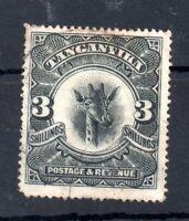 Tanganyika 1922 3/- black fine used Giraffe SG85 WS19141