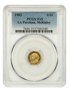 1903 McKinley G$1 PCGS F15 - Classic Commemorative - Gold Coin