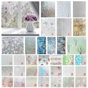 3D Privacy Window Glass Film Static Self-Adhesive Sticker Vinyl Frosted Cover UK