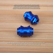 Benchmade 940-1 Osborne Knife 2 PC Custom Titanium Standoff Set Anodized in BLUE