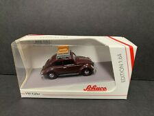 Schuco Volkswagen Kaefer Beetle with Luggage and Rack 1/64