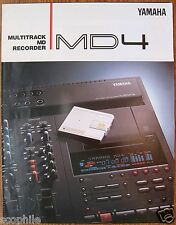 Yamaha Original Color Brochure for MD4 Multitrack MD Recorder, Printed in Japan