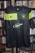 Nike Celtic Soccer Club Fit Dry Black w Green Carling  Jersey Mens L   (bin88)