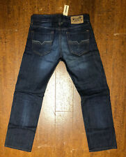 New Diesel Larkee Regular Straight Leg 73N Dark Wash Jeans 30/32 Italy