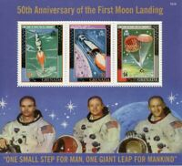 Grenada Stamps 2019 MNH Moon Landing Apollo 11 50th Anniv Space 3v M/S II