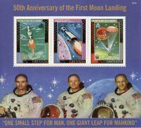 Grenada Stamps 2019 MNH Moon Landing Apollo 11 50th Anniv Space 3v M/S II
