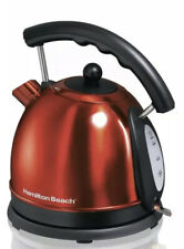 Hamilton Beach 1.7L Stainless Steel Electric Kettle 40894 Stainless RED