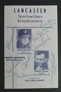 OZARK WEAVER CARLTON Lancaster Sportswriters Autographed Signed 1973 Program 14
