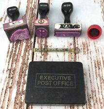 Vintage Postal Office Ink Hand Cancel Stamps Love Peace First Class Air Mail Lot