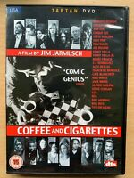 Coffee & Cigarettes DVD Jim Jarmusch Cult Comedy w/ Steve Coogan and Bill Murray