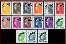 2012 FRANCE N°4662A/4662** 15 Timbres Maxi Mariannes ETOILE D'OR de BEAUJARD MNH
