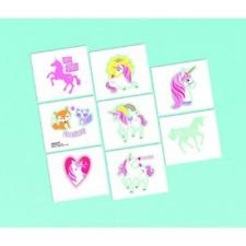 8 x Unicorn Temporary Tattoos Favours Party Supplies Loot Bag Temp Birthday