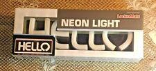 "Brand New Locker Mate ""Hello"" White * Neon Sign * Mirror *"