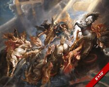 THE FALL OF PHAETHON GREEK MYTHOLOGY PAINTING ART REAL CANVAS GICLEE PRINT